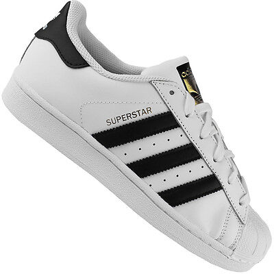 adidas Originals Superstar Damen | Kinder Turnschuhe Schuhe Sneaker C77154 Weiß