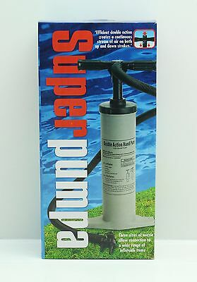 NEW Double Action Heavy Duty Hand Pump Camping Outdoor Air Beds Inflatables