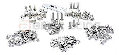 BMW R1100RS 1994 stainless steel motorcycle screen panel cover fairing bolts