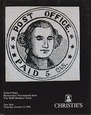 Auction Catalogue – United States Postmasters Provisionals