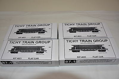 HO 40' 50 ton flat Car kits x 4 new in unopened boxes