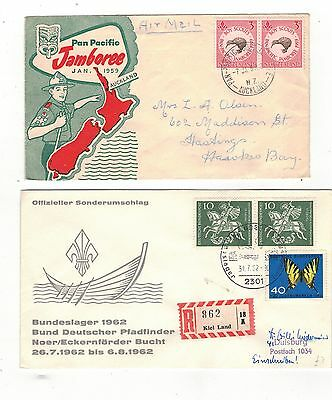 COLLECTION OF NINETEEN -BOY SCOUT/JAMBOREE   RELATED FDCs.1959- 1988