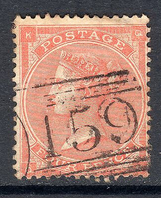 1862 - 64 SG 82 4d Pale Red (Hairlines) Fine Used. Cat £120.00