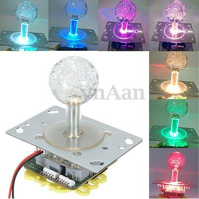12V LED 7 Colors Change Arcade Joysticks Rocker 4 - 8 Way Consoles DIY Kit Parts
