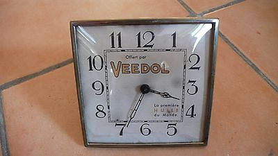 ancienne pendulette publicitaire huile veedol no plaque emaillee