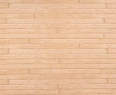Dolls House Light Oak Miniature 1:12 Wooden Floorboards Effect Paper Flooring