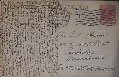 1913 Italy Old Post Card Used.