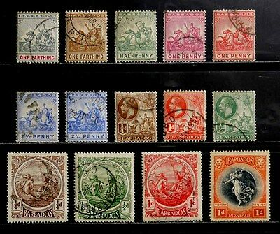 Barbados: Classic Era Stamp Collection