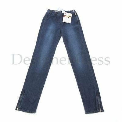 CHLOE Jeans Blue Denim Cotton with Ankle Zips Size 12 Years RRP £85.99 KJ 63