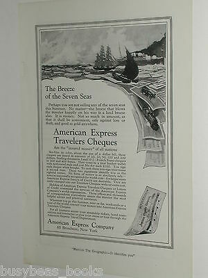 1921 American Express Company advertisement, Travelers Cheques