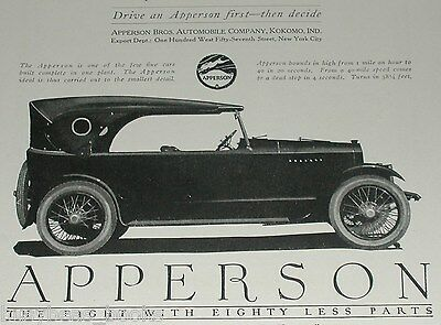 1920 Apperson advertisement, Apperson Brothers Automobile  Co.