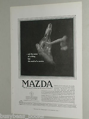 1918 MAZDA Lamps advertisement, General Electric, glass bulb