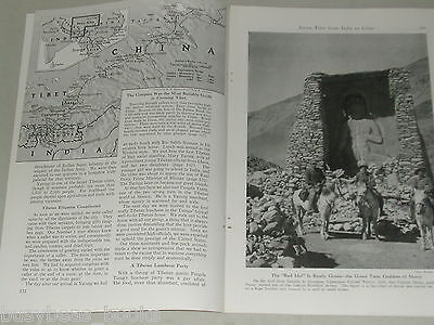 1946 magazine article India-TIBET-China travel during WWII, people, geography