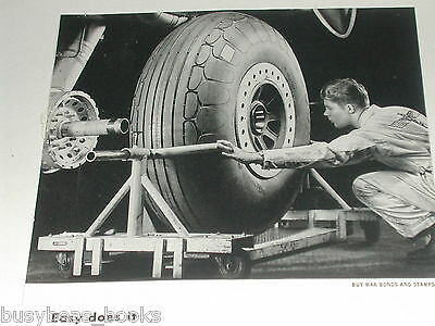 1943 Boeing Aircraft ad, Changing Flying Fortress tire