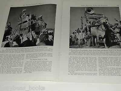 1943 magazine article about INDIA, by Lord Halifax, history people etc