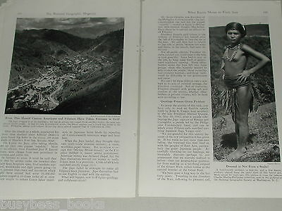 1945 magazine article about LUZON, Philippines, WWII history, South Pacific