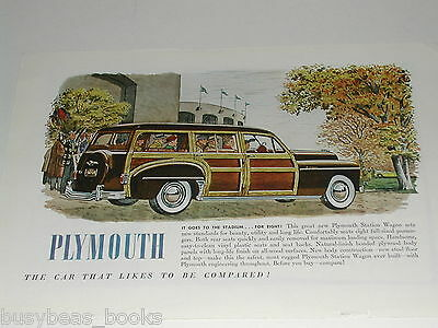 1950 Plymouth ad, Plymouth woody Station Wagon