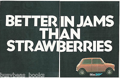 1979 AUSTIN MINI 2-page advertisements x3, MINI, UK adverts, Austin Morris