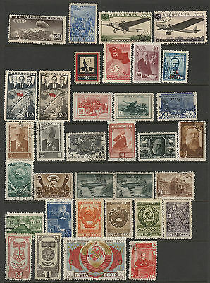 Russia selection of 34 stamps mint or used