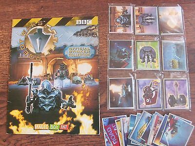 BBC  Robot Wars Official sticker album with stickers  / spares    VERY RARE