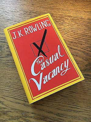 j k rowling The Casual Vacancy Hardcover New