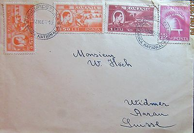 1947 Romania Cover (Bucharest National Bank Post Mark ) Stamps On Both Sides