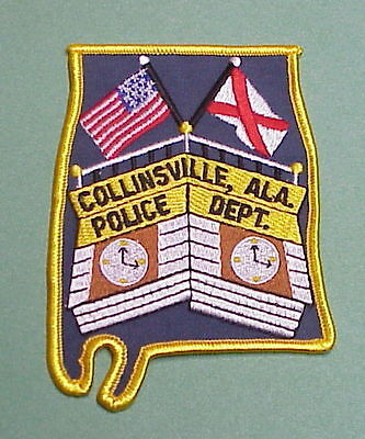 Collinsville  Alabama  Al ( State Shape )  Police Patch  Free Shipping!!!
