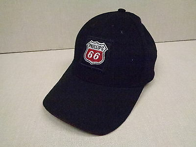 Phillips 66 Black Ball Cap With Patch, Fits All Sizes