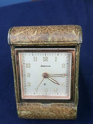 Vintage Art Deco Looping Swiss 8 Day Travel Clock