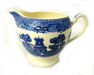 Vintage Alfred Meakin Old Willow England Blue & White  Milk Jug / Creamer China
