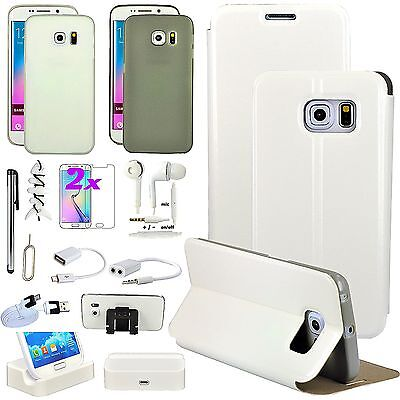 14 in 1 Leather Case Cover Charger Accessory For Samsung Galaxy S6 Edge+ Plus