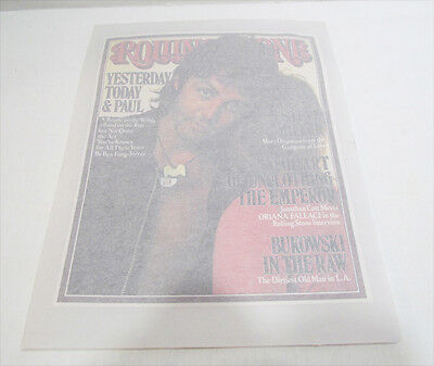 PAUL McCARTNEY BEATLES WINGS ROLLING STONE MAG 1970's IRON ON T-SHIRT TRANSFER
