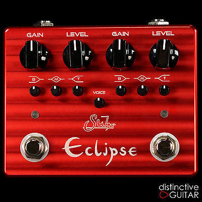 New Suhr Eclipse Dual Channel Overdrive / Distortion Pedal Independent 3 Band Eq