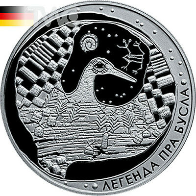 Belarus 2007 20 rubles The Legend of the Stork Proof Silver Coin