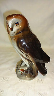 Vintage Large 19.5cm Ceramic Barn Owl Figure