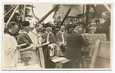 POSTCARD-SCOTLAND-OBAN. Laying of The Foundation Stone, St Columba's Cathedral.