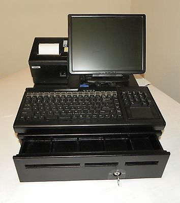 pcKeyboard Full Cash Register Point Of Sale (POS) PC inside Keyboard w/Software
