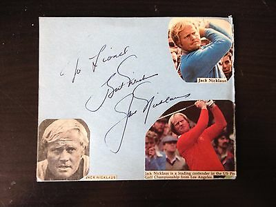 Jack Nicklaus - Legendary American Golfer - Signed Autograph Album Page