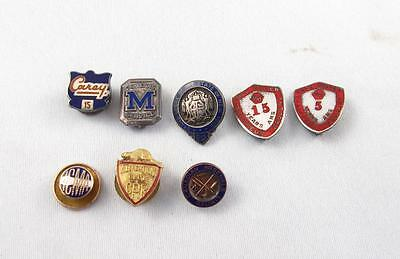 Mixed Lot Of 8 Various Sterling Silver Pins Service/safety/work C.p.r. & More