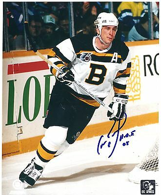 Can Neely Boston Bruins HOF Signed Autographed Hockey 8x10
