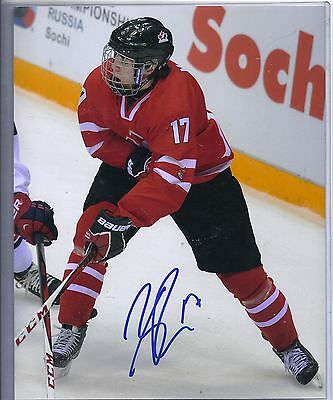 Connor McDavid Team Canada World Juniors Signed Autographed 8x10