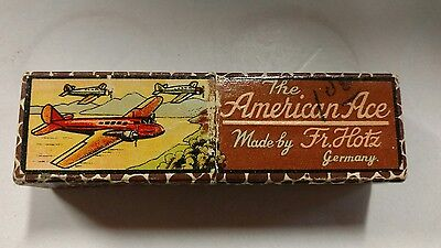 """Vintage """"The American Ace"""" Harmonica Made by Fr. Hotz Germany in Box"""