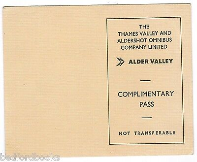 The Thames Valley Traction Co. Ltd. and Aldershot Co. Complimentary Pass