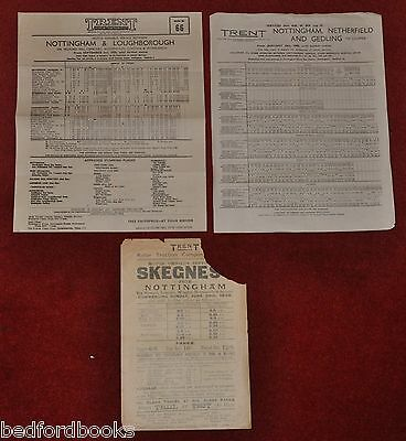 3 Trent Motor Traction Co. Ltd. Timetable Leaflets 1930, 1950, 1960