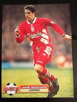 A4 MATCH Football action picture/poster JAMIE REDKNAPP, Liverpool