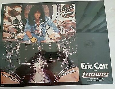 Kiss Eric Carr signed Ludwig poster.