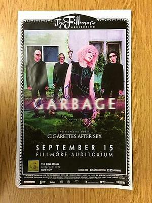 Garbage Denver 2016 Signed X4 Concert Poster Shirley Manson Autograph