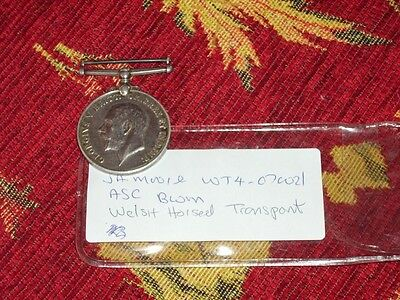 WW1 British War Medal  Moore Welsh horsed transport  army service corps