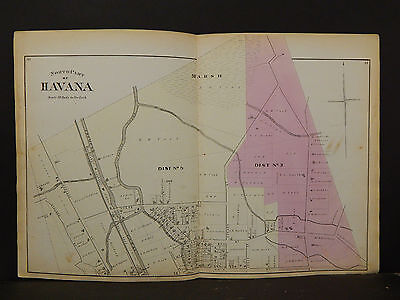 New York, Schuyler County Map, 1874, Havana 2 Double Pages  Y1#74