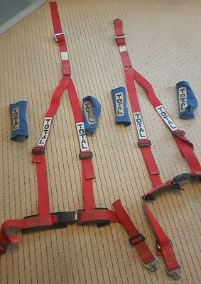 Full Harness Seat Belts 3 point and shoulder pads